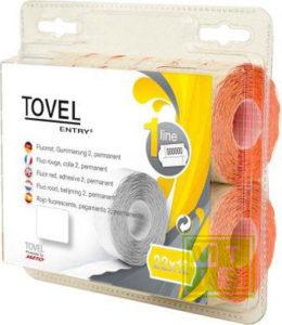 Etiket Tovel 22x12  Meto EcomLine 1-liner: Wit
