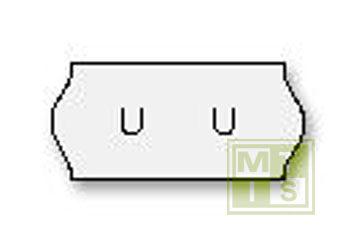 Etiket TK6 (permanent) 26x12 Wit (per 54.000st.)