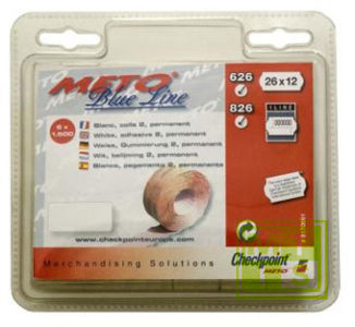 Etiket 26x12 Meto / Tovel: Fluor geel