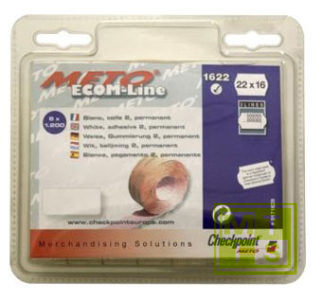 Etiket 22x16 Meto / Tovel: Fluor geel
