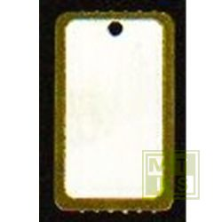 Hangetiketten op rol formaat 25x42mm goudrand