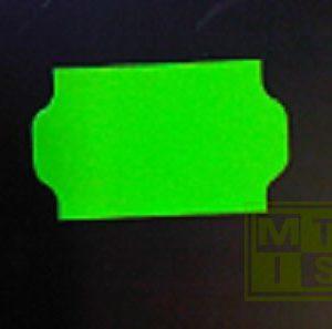 Etiket BlueLine 2-liner: Fluor Groen Permanent