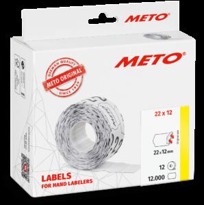 Etiket Tovel 22x12 Meto EcomLine 1-liner: Wit -standaard