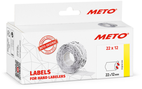 Etiket Meto 22x12 Wit Permanent 6 rollen