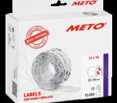 METO Etiket Maat M