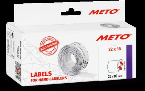 Etiket Meto 22x16 Wit Permanent 6 stuks