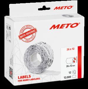Etiket Meto 26x12 Wit Permanent 12