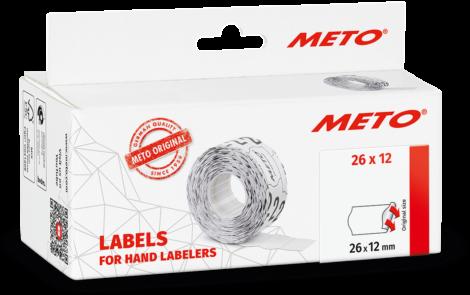 Etiket Meto 26x12 Wit Permanent etiketten 6