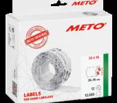 Prijstang Meto Classic M 1626 26x16mm Drukwerk etiketten