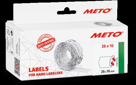 Meto etiketten 26x16 6 pack