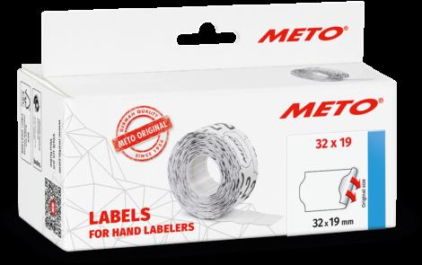 Etiket Meto 32x19 Wit Permanent 5 rol